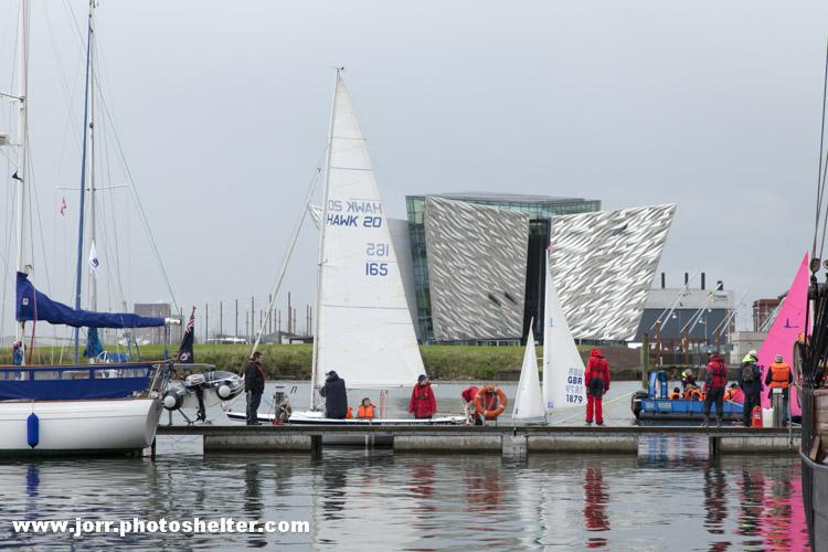 Yachts in front of Titanic Building, Belfast Titanic Maritime Festival 2013 J Orr