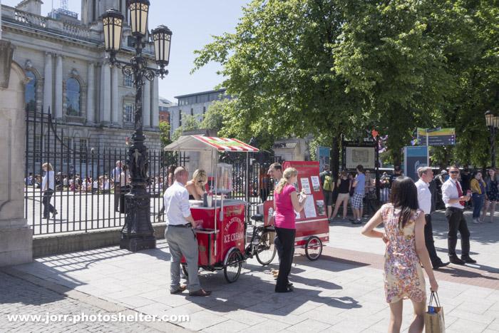 Ice cream seller, Belfast City Hall, J Orr