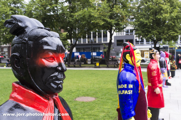 Terracotta Warriors in the grounds of Belfast City Hall, J Orr