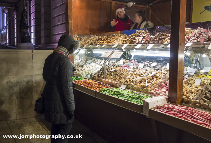 Buying sweets at the Christmas Market