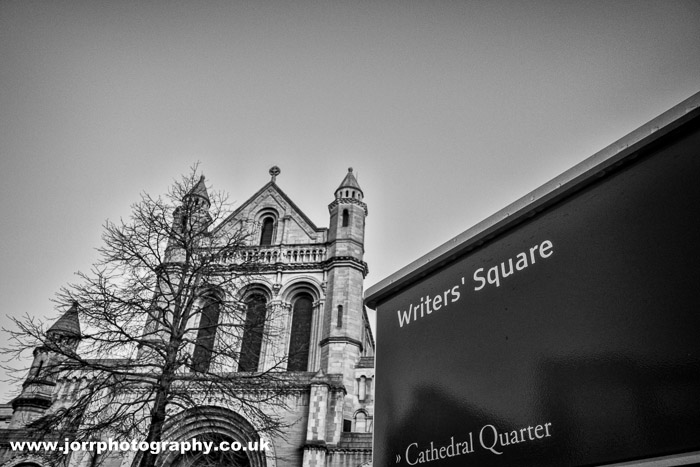 Writers Square St Annes Cathedral belfast