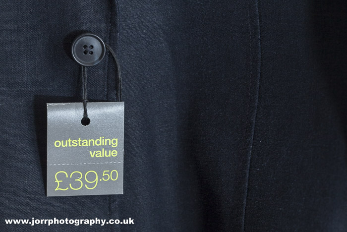 price label jacket