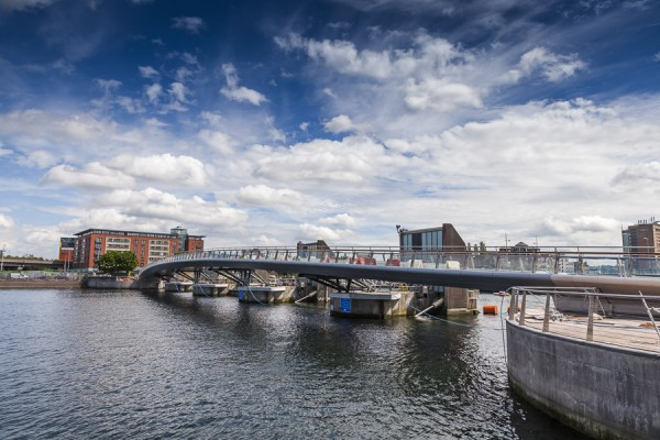 Lagan Weir Replacement Footbridge nears completion
