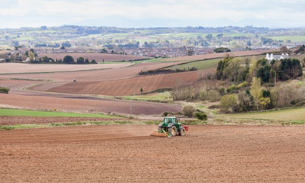 Farmers work the fields outside Newtownards