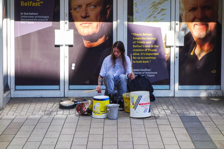 Drummer street entertainer